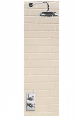 Burlington Trent Concealed Thermostatic Straight Arm Traditional Shower Fixed Various Sizes & Styles
